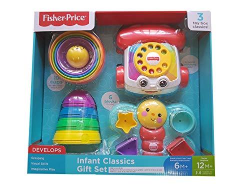 フィッシャープライス 乳児用クラシックギフトセット #2140446 - 3つのおもちゃの箱 クラシック