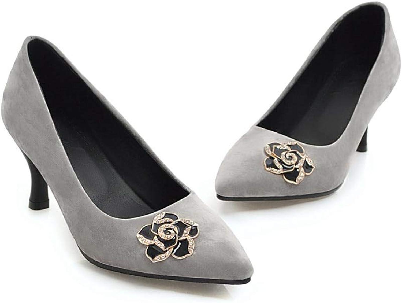 MENGLTX High Heels Sandalen Frauen Pumps Frühling Sommer Einfache Komfortable Flache Spitz Gre 33-43 High Heels Schuhe