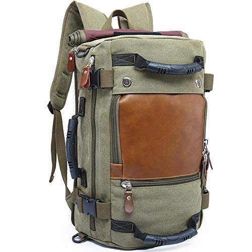 KAKA Travel Duffle Backpack Convertible Carry-On Bag fit 15.6'' Laptop Green