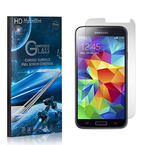 MelinHot Displayschutzfolie für Samsung Galaxy S5, 99% Transparenz Schutzfilm aus Gehärtetem Glas, 9H Härte, Keine Luftblasen, 3D Touch, 1 Stück