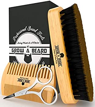 Grow A Beard Gentleman's Giveaway Beard Brush & Comb Set for Men's Care