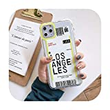 Cute First Class Air Plane Ticket Phone Case for iPhone 11Pro Max 7 8 Plus X Xr Xs Max Flight Ticket Letter Soft Silicone Back Cover -T2-for iPhone 7Or 8
