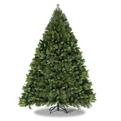 WBHome 6 Feet Premium Spruce Hinged Artificial Christmas Tree, 979 Branch Tips, Unlit