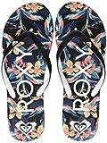 Roxy Tahiti, Zapatos de Playa y Piscina para Mujer, Negro Black, 37 EU