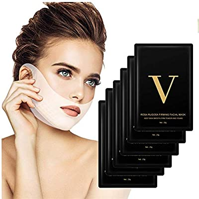 V Face Masks, HailiCare 6 Pcs V Line Mask and Double Chin Reducer, V-shape Face Slimming Mask Face Lifting Mask, Facial Anti-Wrinkle Mask