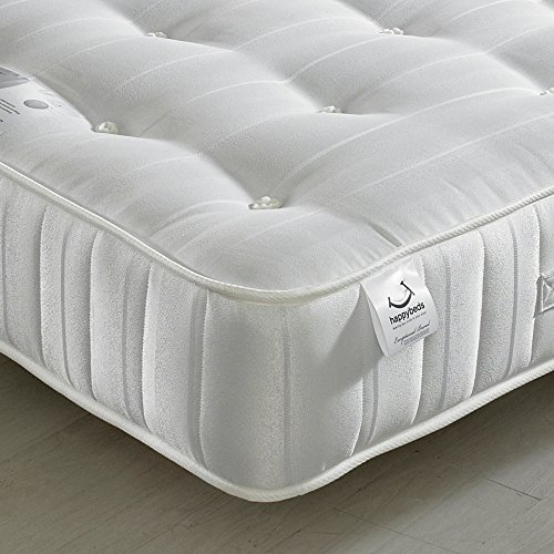 Orthopaedic Open Coil Spring, Happy Beds Super Ortho Medium Firm Tension Mattress with Reflex Foam - 5ft UK King (150 x 200 cm)
