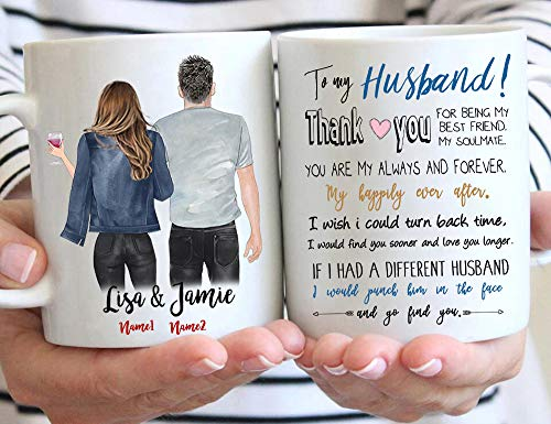 Funny Mug Custom Valentines Day Mugs for Husband from Wife, Valentines Day Gift for Him Husband, Personalized Husband Coffee Mug, Anniversary or Birthday Gifts for Husband from Wife, 11 or 15 Oz