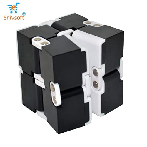 Shivsoft ® Infinity Cube for Stress Relief - Assorted Multi Color