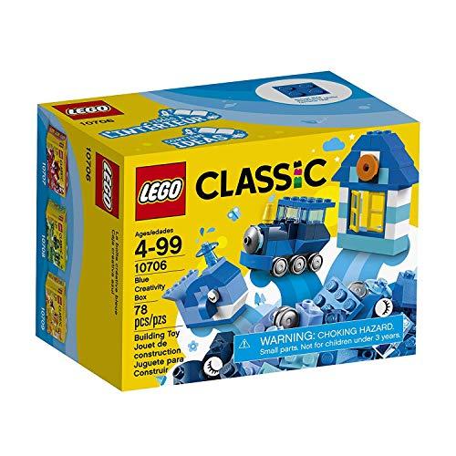LEGO Classic - Caja de construcción (78 piezas), color azul