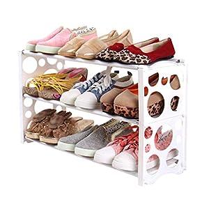 Modernos Rack De Zapatos Rack De Zapatos Espacio Estrecho Plástico Extensible Baño De Las Habitaciones Dormitorio Niño Zapato Rack Tacones Altos (Color : White, Size : C)