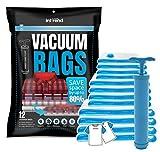 int!rend 33 XXL Vacuum Storage Bags | 12 Sacchetti salvaspazio riutilizzabili | 3 Misure i...