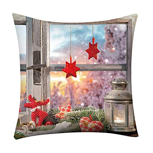 LHHH Pillow Cover Pillowcases Sofa Cushion Covers Throw Pillow Covers Christmas Pillow Case Glitter Polyester Sofa Throw Cushion Cover Home Decor