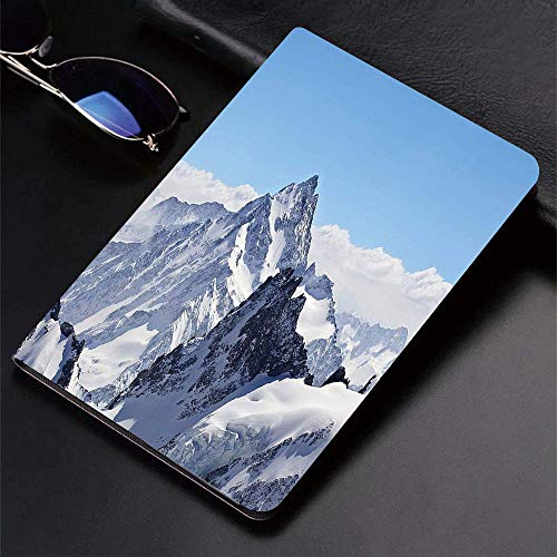 Funda para iPad (24.638, modelo 2018/2017, 6.a / 5.a generación) Funda inteligente ultradelgada y ligera, invierno, nevados Rocky Mountain Peaks Tops Scene High Lands ICY Frozen Swiss Ou, fundas intel