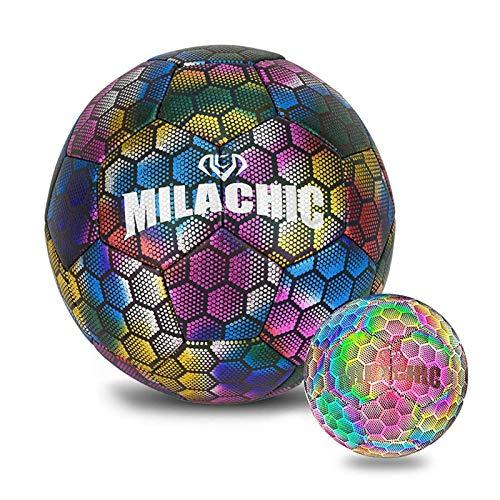 yummyfood123 Leuchtender Fußball Leuchtfußball Fussball Freizeitbälle Kinder Leuchtball Für Kinder Erwachsene, 4 Und #5
