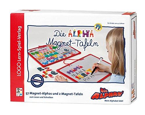 Logo Lern-Spiel-Verlag Die Alpha-Magnet-Tafeln zum ersten Schreiben: Mit Allen Sinnen Lesen Lernen für alle Kinder von 4 - 7 Jahren