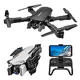 LILY 4K Altura Drone Plegado, Flujo Óptico Siguiente Fijada De Doble Cámara De Control Remoto Drone WiFi HD Drone Quadcopter Aérea