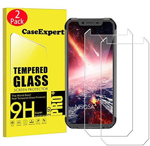 CaseExpert 2 Pack - Blackview BV9500 Pro Protector de Pantalla, Ultra Tanque Transparente Cristal 9H Cristal Templado Glass Protector de Pantalla para Blackview BV9500 Pro