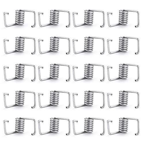 30 Pieces Timing Belt Tensioner Springs, Spring Steel Timing Belt Locking Spring Torsion Spring for 3D Printer (Silver)