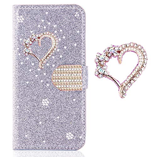 Brilliant Bling Girls Purse Compatible with Samsung S20 FE,Glitter Diamond Sparkle Leather Kickstand Stand Function Magnetic Book Flip Wallet with Stylish Card Slot Holder Cover
