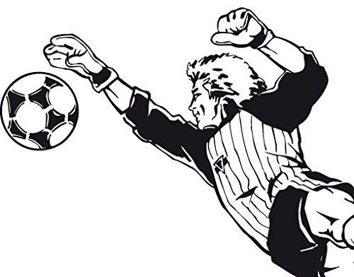 Wandtattoo No.TA77 Torwart II fussball sportlich fit tor tormann, Farbe:Silber;Größe:74cm x 150cm
