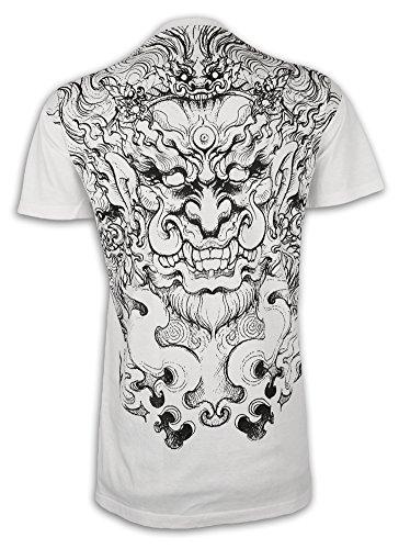 Ako Roshi Camiseta Hombre Acala - Dios del Fuego Talla M L XL Demonio Artes Marciales Tatuaje...