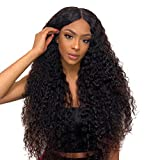 Water Brazilian Hair Wig Cheap 4x4 Lace Closure Wigs Curly Human Hair Wig Silk Lace PerrüCke Echthaar Hair Deep Water Wave Closure Brazilian Grade 7a With Baby Hair 14 zoll(35.56cm) NIUDINNG