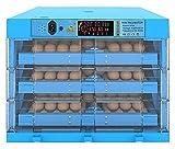 YQQQQ INCUBRADORES Inteligentes para Huevos DE ACUPACION AUTOMÁTICO GANADORA DE AVANZA DE AVAGADORES DE PULSOS 192 Huevos Grandes HISTER para GOOSO (Color : Blue, Size : 48x48x43cm)
