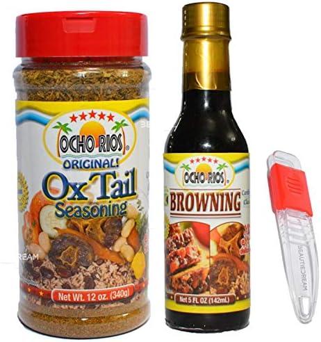 Ocho Rios Oxtail Seasoning Meat Stew 12 oz Ocho Rios Browning w Adjustable BeautieDream Measuring product image