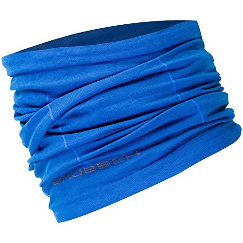 2. BRUBECK® KM10360 X-PERT Tissu Tubolaire | Unisexe | Fonctionnel | Laine mérinos | Tissu multifonctionnel | Echarpe | Foulard | Fichu, Taille:S - M;Couleur:Blue