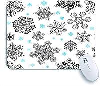 ECOMAOMI 可愛いマウスパッド モミの木と装飾的な要素を持つクリスマスの装飾 滑り止めゴムバッキングマウスパッドノートブックコンピュータマウスマット
