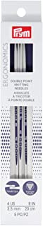 Pyrm Ergonomics 8-Inch Double-Point Knitting Needle, Size 4 (5-Pack)
