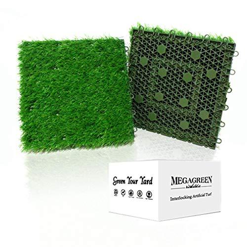 人工芝 組み立て可能な芝生 多機能芝カーペット 排水マット ガーデンバルコニーガーデンマット 愛犬用カーペット (9枚)