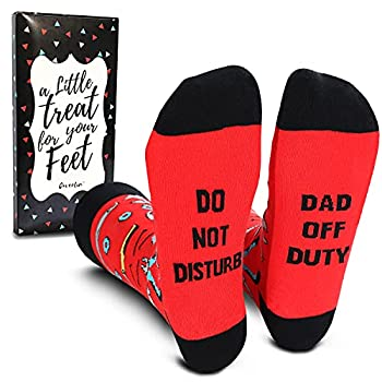 Cavertin Men's Novelty Dad Socks with Gift Box - Cheap gifts for dad under $10