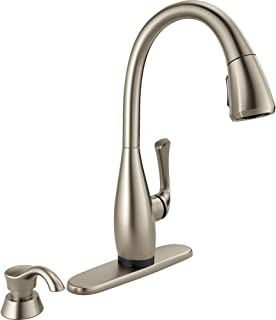 Dominic Single-Handle Pull-Down Sprayer Kitchen Faucet with Touch2O Technology in SpotShield Stainless by DELTA FAUCET