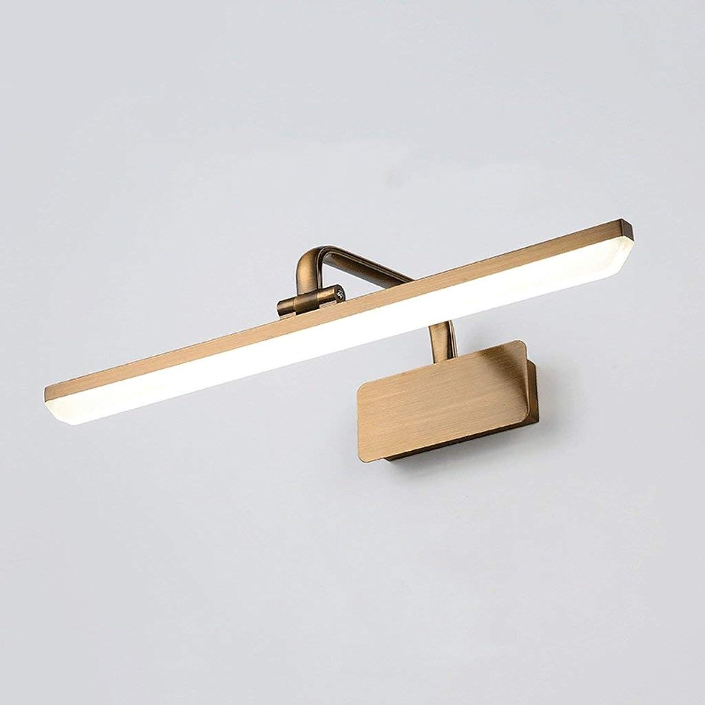 BAIF Retro Spiegelleuchte Badezimmerspiegelschrank Beleuchtung wasserdichte LED-Schminklampe (Gre  11w43cm)