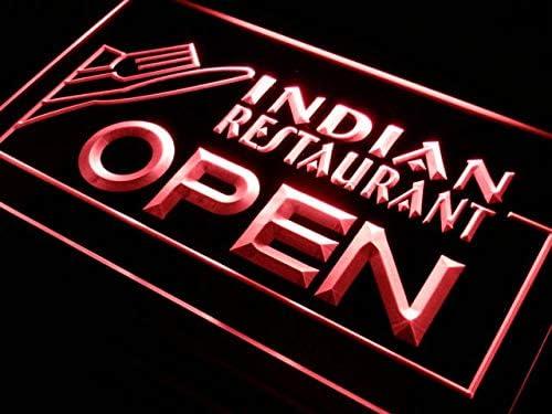 2020春夏新作 ADVPRO Indian Restaurant Open Food Cafe LED Neon 迅速な対応で商品をお届け致します 1 16 x Sign Red