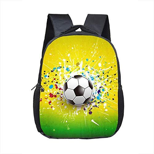 Rucksack 12 Zoll footbally Druckrucksack für 2-4 Jahre alte Kinderkinderschultaschen kleine Kleinkindtasche...