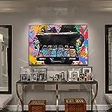 Cuadro en Lienzo Cuadros Decorativos Mural Graffiti Art Canvas Painting Money Inspirational Wall Art Posters e Impresiones Street Art Picture para la decoración de la Sala de Estar