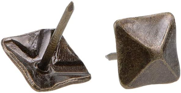 Award-winning store uxcell Upholstery Max 51% OFF Nails Tacks 12mm Furniture Head Antique Square