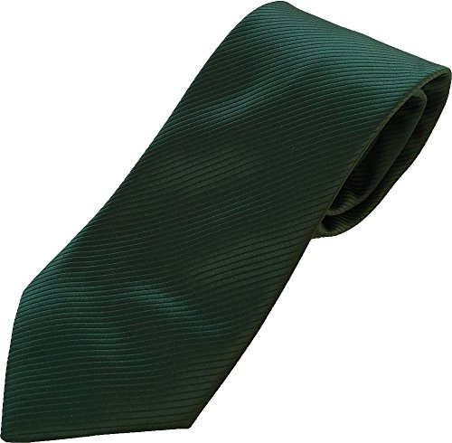PB Pietro Baldini Corbata verde listados - Corbatas verde hombre 100% microfibra - Fabricacion artesanalmente (Verde oscuro)