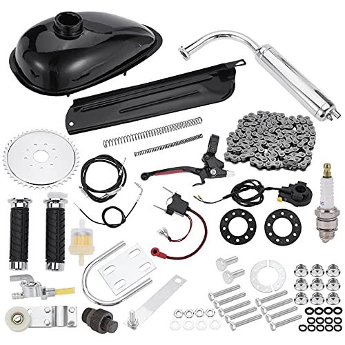 quistrepon Bicycle Motor Kit 100cc, Motorized Bicycle Engine Kit 2 Stroke Petrol Gas Motor Engine Kit Fits Most 24' 26' or 28' Bikes with V-Frame