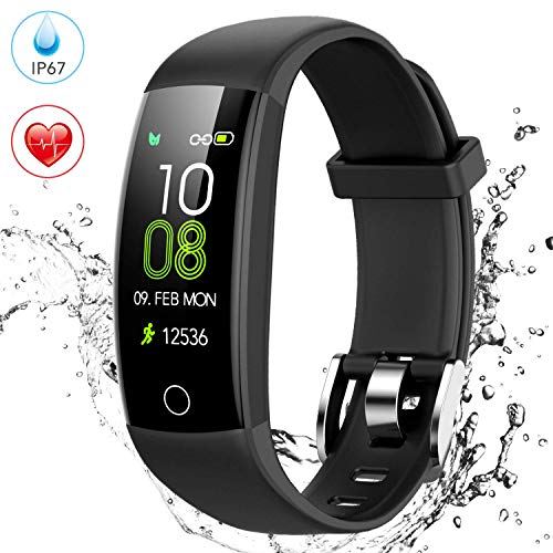 AGPTEK Pulsera de Actividad Inteligente, Reloj Deportivo Pantalla a Color IP67 Soporta GPS, Temporizador, Monitor de Ritmo Cardíaco, Calorías y Sueño, 5 Deportes para Hombre Mujer