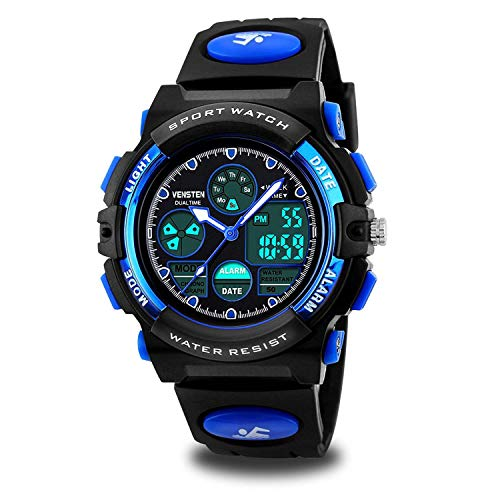 Kids Watches Boys for 5-12 Year Old, Kids Digital Sports Waterproof Watch for Kids Birthday Presents Gifts Age 5-12 Boys Girls Children Young Teen Outdoor Analog Electronic Watches Alarm Stopwatch