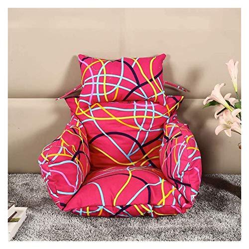 Cojines para exteriores para sillas de patio Cojín colgante para silla con forma de huevo, cojín para asiento de columpio para patio Cojín para silla con nido de pájaro, grueso, antideslizante, con