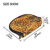 Fantazio - Bolsa de maquillaje con cremallera y diseño de tigre amarilla