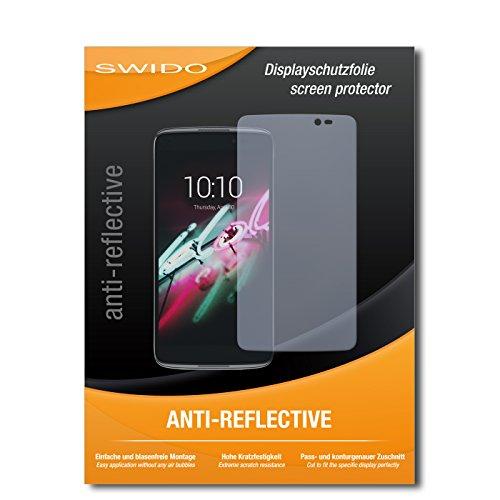 SWIDO Bildschirmschutz für Alcatel One Touch Idol 3C [4 Stück] Anti-Reflex MATT Entspiegelnd, Hoher Festigkeitgrad, Schutz vor Kratzer/Glasfolie, Schutzfolie, Bildschirmschutzfolie, Panzerglas Folie