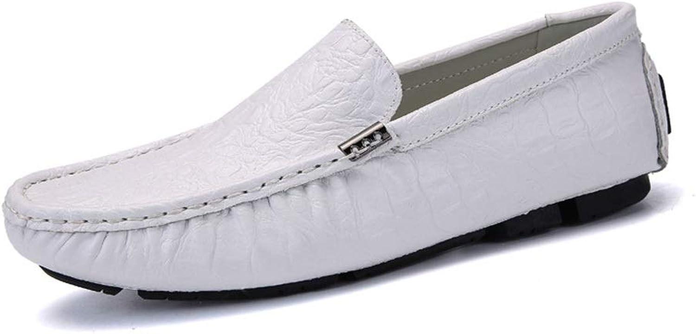 A Pedal Lazy shoes Men's shoes Casual Men's shoes Breathable Peas shoes (color   White, Size   44)