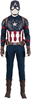 Captain America Costume Avengers 4 Endgame Superhero Halloween Costume for Men
