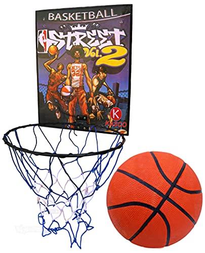 Toyshine Indoor Door and Wall Mountable Basketball Hoop Set with 5 No Basketball - Multicolour (SSTP)