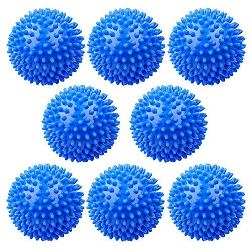 RUIZHI Bolas de Secadora de Ropa Pelota Lavadora Lavado Reutilizables 8 Piezas Dryer Balls Secado Rápido Antifoldante Reducción Estática Suavizante de Telas